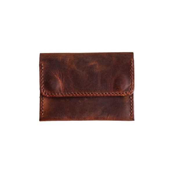BROWN LEATHER minimal cüzdan