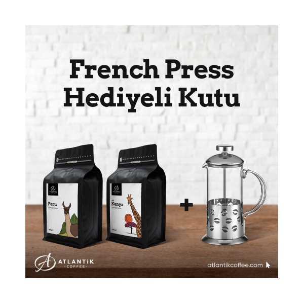 Atlantik Coffee Filtre Kahve 2*250gr French Press Hediyeli Kutu