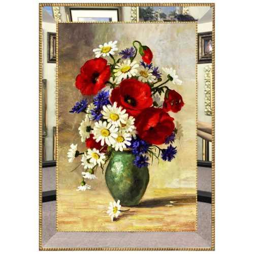 Aynalı Çiçek Tablo
