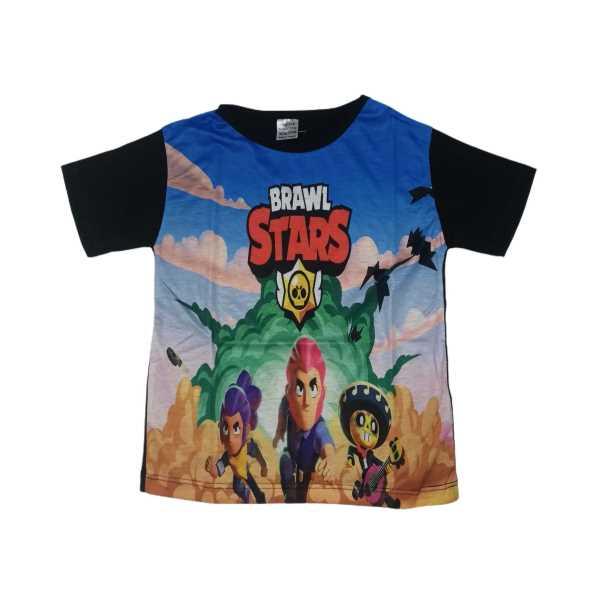 Çocuk Brawl Stars Unisex Kısa Kollu Digital Baskılı Tişört ÇET-STAR