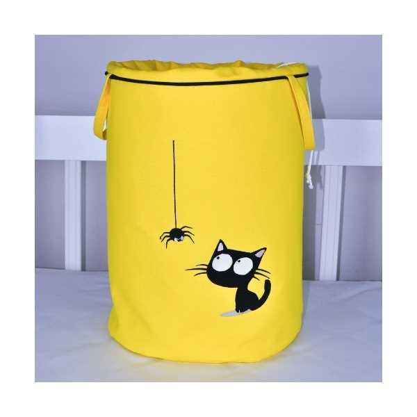 HS Home Baby Spider Cat Nakışlı Oyuncak & Kirli Sepeti