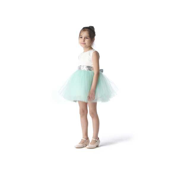 Tülü Akkoç Yeşil Abiye Tütülü Prenses Elbise TAK21A301A