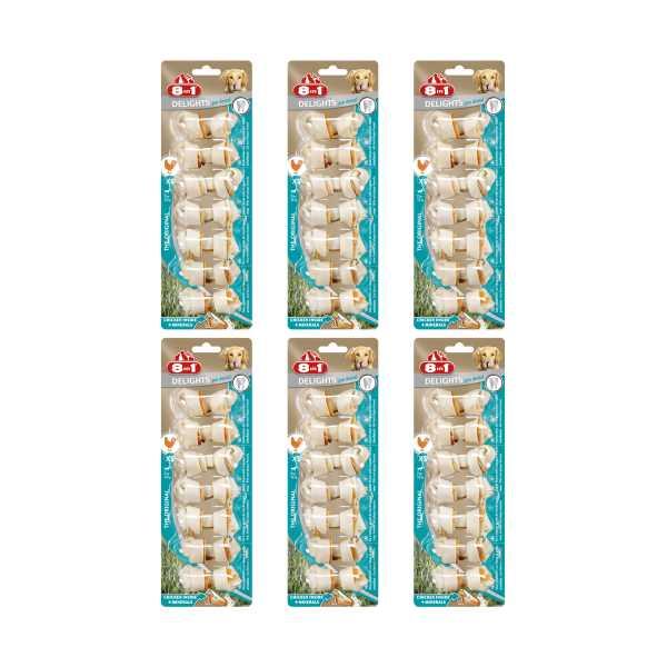 8in1 Pro Dental Bone Plak Önleyici Diş Dostu Tavuklu Ağız Bakım Kemiği 7'li Paket x 6 Adet