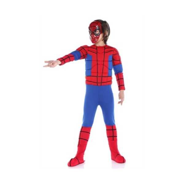 Tülü Akkoç Çocuk Kaslı Spiderman Kostümü
