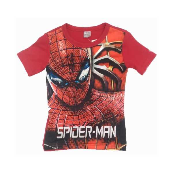 Erkek Çocuk Spiderman Baskılı Kısa Kollu Tişört ÇET-SPD