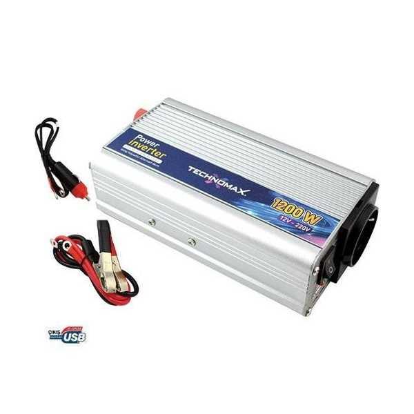 Oto Çakmağından 220V Çıkış Veren Dönüştürücü - DC - AC Güç Dönüştürücü 1200W