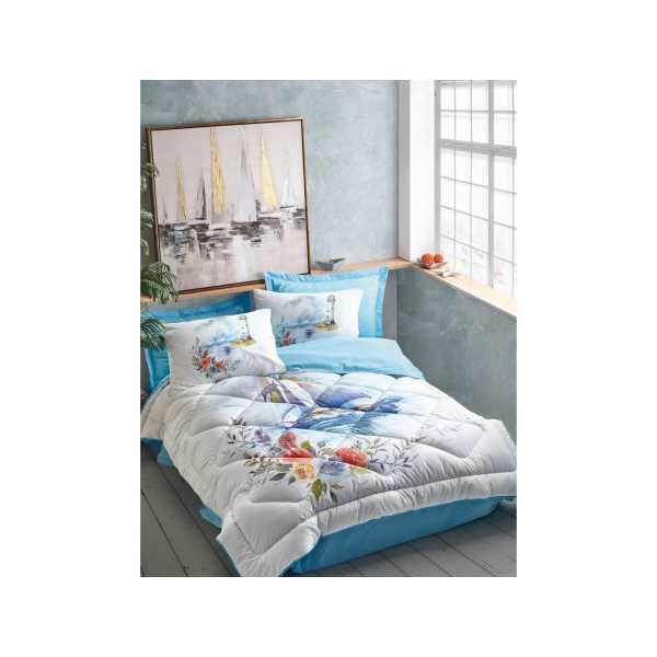 Cottonbox Maritime Tek Kişilik Uyku Seti Morgan Mavi