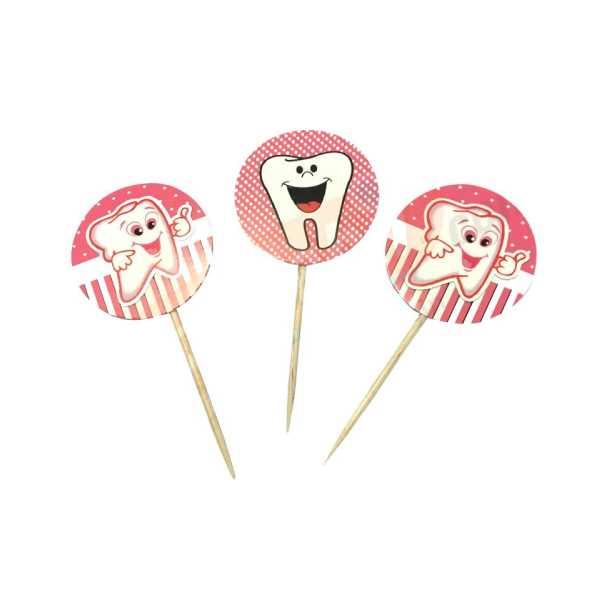 Pembe Renk Diş Buğdayı Parti Kürdan Süsü 20 Adet