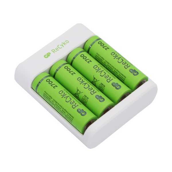 GP RECYKO E411 USB AA/AAA ŞARJ CİHAZI GP RECYKO 2700 SERİSİ AA KALEM PİL 4'LÜ