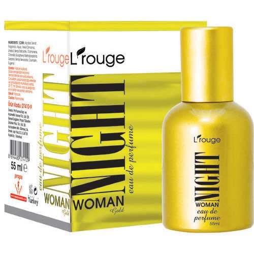 L'ROUGE NİGHT WOMAN GOLD PARFÜM 55 ML