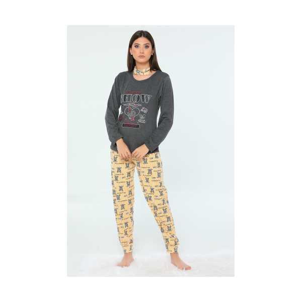 Antrasit The New Show Baskılı Kadın Pijama Takımı 435257