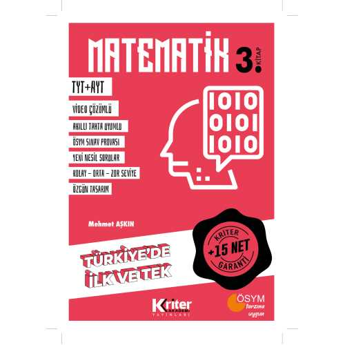 Kriter Yayınları + 15 net Garantili Matematik 3