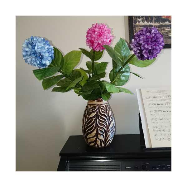 HobbyGenius, El yapımı İpek kozasından ortanca çiçek (3 adet)