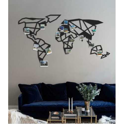 El Munda Dünya Haritası - Duvar Aksesuarı