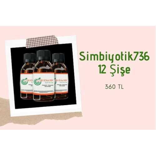 Simbiyotik 736 Probiyotikli Gıda İçeceği (12 Şişe)