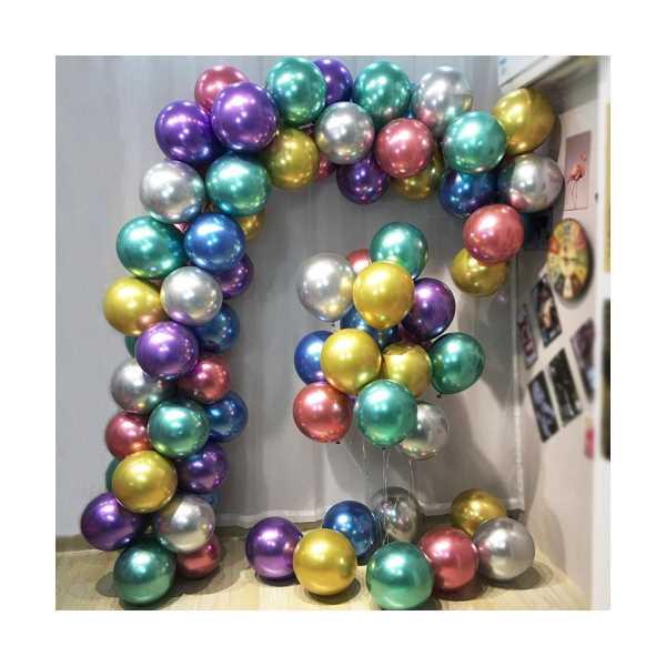 Krom Balon Karışık Renk 50 Adet