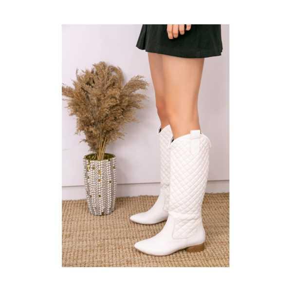 Nanon Beyaz Cilt Çizme