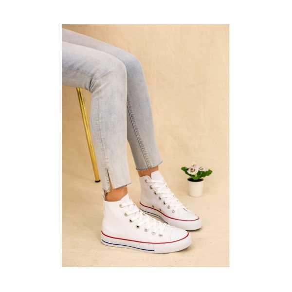 Riona Beyaz Keten Bot Spor Ayakkabı