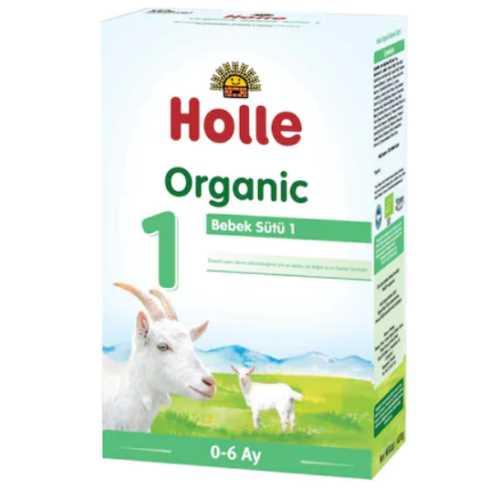 HOLLE ORGANİK  1  KEÇİ SÜTÜ  BAZLI BEBEK SÜTÜ  400 grm ( 0-6 Ay )-Doğal sağlık rünleri