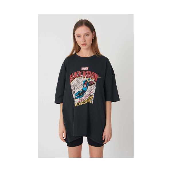 Blackwıdow Baskılı Tshirt
