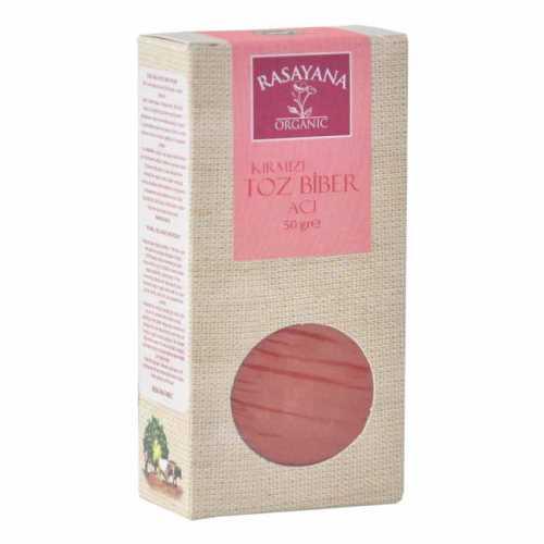 Rasayana Organik Kırmızı Toz Biber (ACI) 50 Gr.