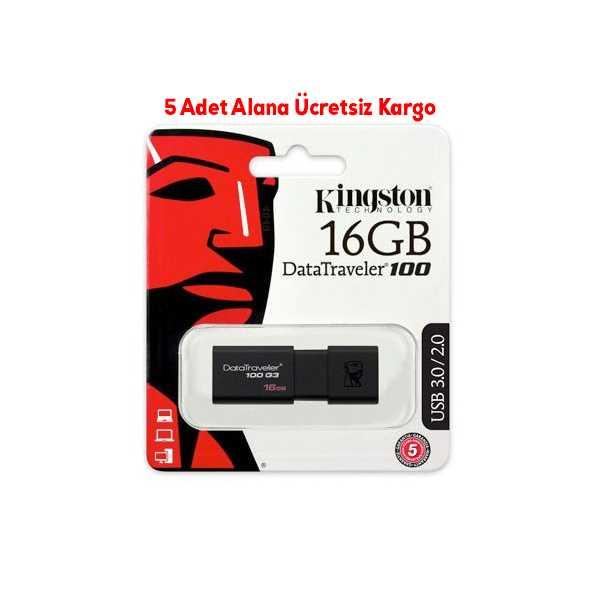 KİNGSTON 16GB USB3.0 (DT100G3) SİYAH FLASH BELLEK