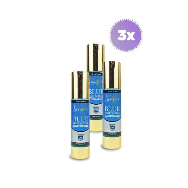 Laofix Saç Dökülmesine Karşı Doğal Mavi Su Saç Bakım Serumu 3x50 ml