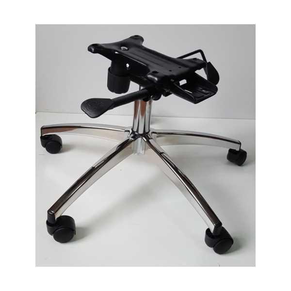 Makam Sandalyesi Krom Yıldız Ayağı Çift Kollu Kuyruklu Mekanizma Çap 70 cm