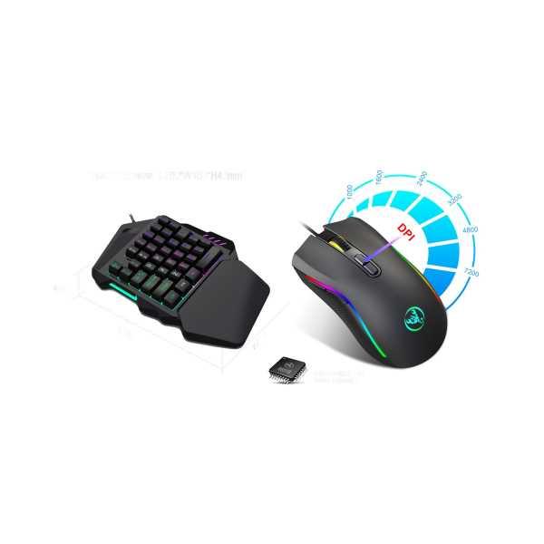 Layftech V100+A869 Gaming Tek El Klavye,7200 DPI Oyuncu Mouse set