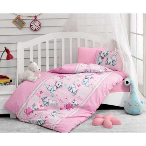 Cottonbox Miyav Pembe Bebek Nevresim Takımı