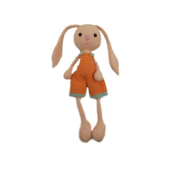 Amigurumi Örgü Tavşan Oyun Ve Uyku Oyuncağı %100 Yerli, Organik