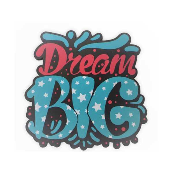 WoodyPack Dream Big –şekilli Kesim Ahşap Bardak Altlığı
