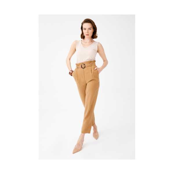 Cass Giyim Ekol Yüksek Bel Havuç Pantolon