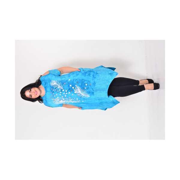 Kadın Pencere Kollu Varaklı Baskılı Yırtmaçlı Asimetrik Boy Batik Büyük Beden Elbise 2025-Ö
