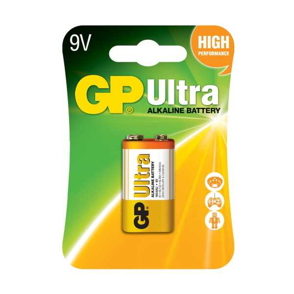 GP GP1604AU Ultra Alkalin 9V Pil