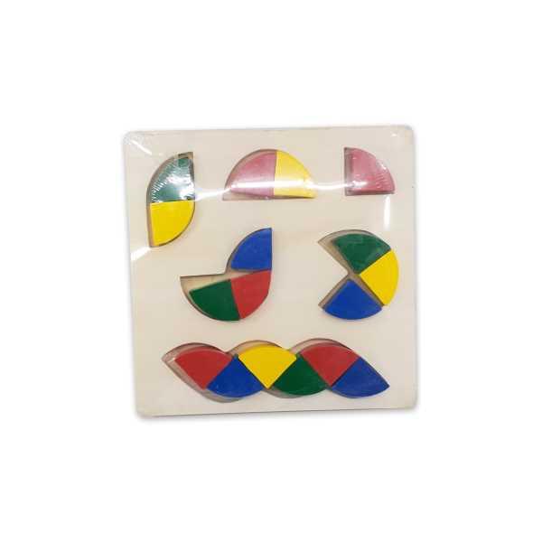 Montessori Eğitici Oyuncak: Ahşap Eğitici Geometrik Şekilli Bloklar