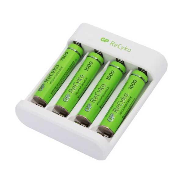 GP RECYKO E411 USB AA/AAA ŞARJ CİHAZI GP RECYKO 1000 SERİSİ AAA İNCE PİL 4'LÜ