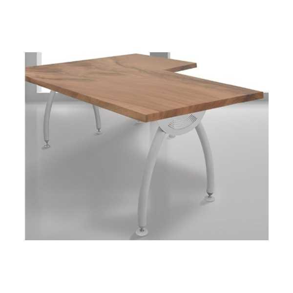 Ofis Çalışma Masası Ahiap Tablalı L tipi Köşeli Model 139x139 cm