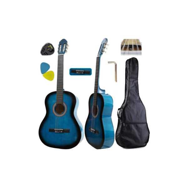 Sanchez Klasik Gitar Mavi renk