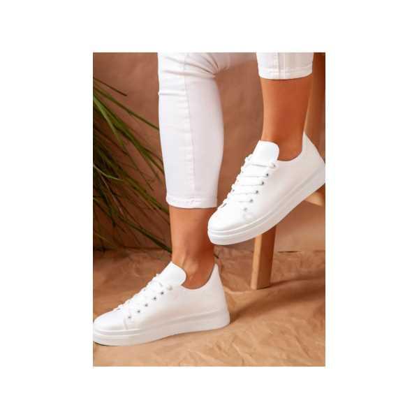 ayakkabı havuzu- Kadın Beyaz Spor Ayakkabı