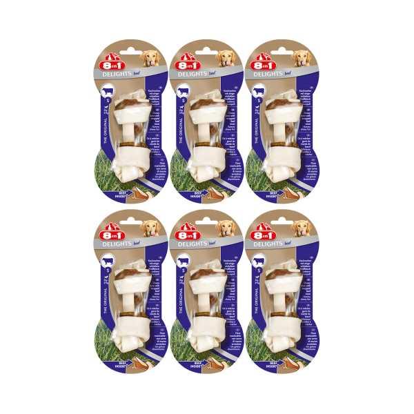 8in1 Delights Bone Köpekler İçin Biftekli Ağız Bakım Kemiği x 6 Adet