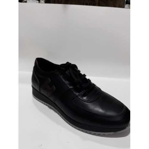 Siyah Deri Günlük Erkek Ayakkabı