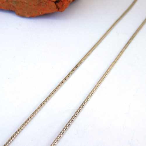 Gümüş Hasır Zincir 60cm