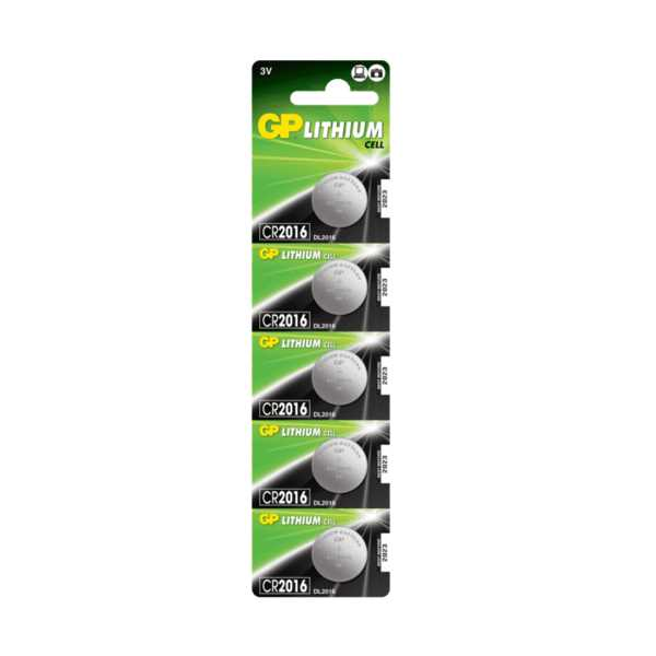 GP CR2016 3v Lithium Para Pil 5'li