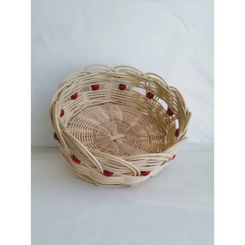 Yuvarlak Bambu Sepet