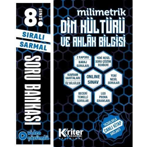 8. sınıf Kriter Yayınları Din Kültürü Soru Bankası