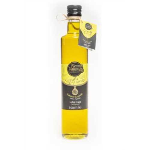 Nermin Hanım Limon Çeşnili Zeytinyağı Soğuk Sıkım, Çeşnili 500ml