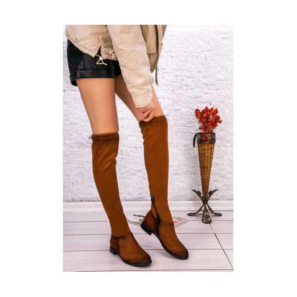 Karem Taba Süet Çorap Çizme