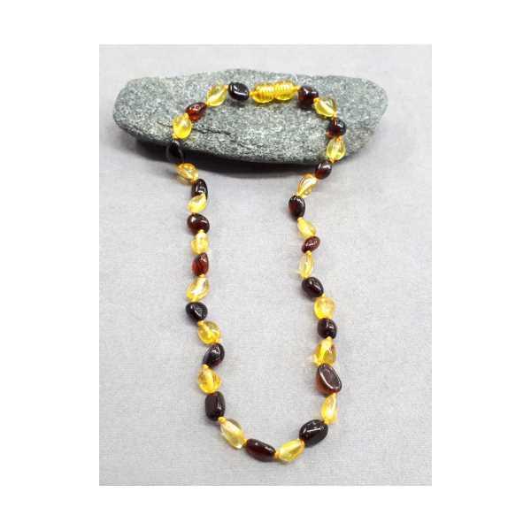 Kehribar Bebek Diş kolyesi sarı renk