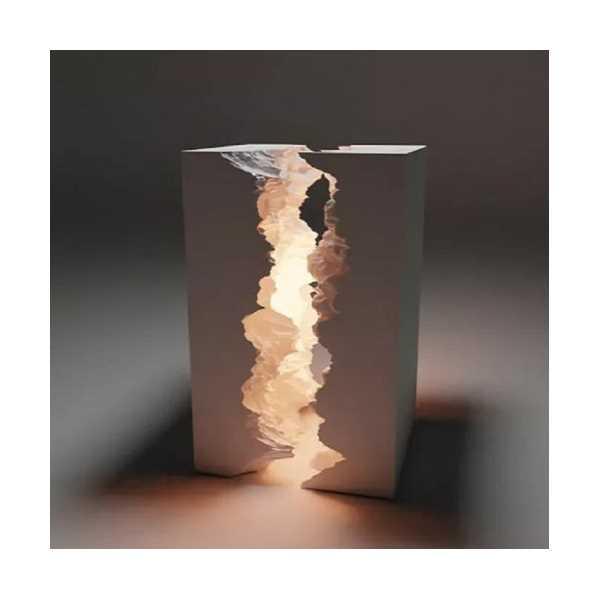 Dağ Masa Ve Gece Lambası Özel Tasarım Beyaz